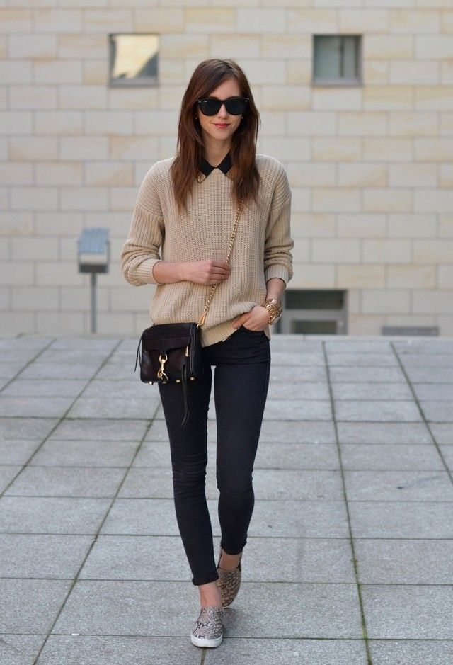 Casual-chic Outfit Ideas with Slip-on Shoes