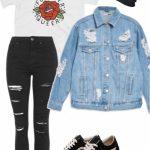 Casual grunge traje diario polyvore #grungeoutfitstumblr - #casual #diario #Gru