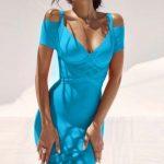 Celebrity Bandage Dress, Knee Length, Off Shoulder Dress, 9 colours