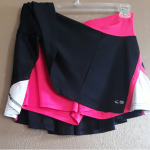 Champion Gear Tennis Skirt pink/black Jr XL Champion Gear Tennis Skirt pink/blac...