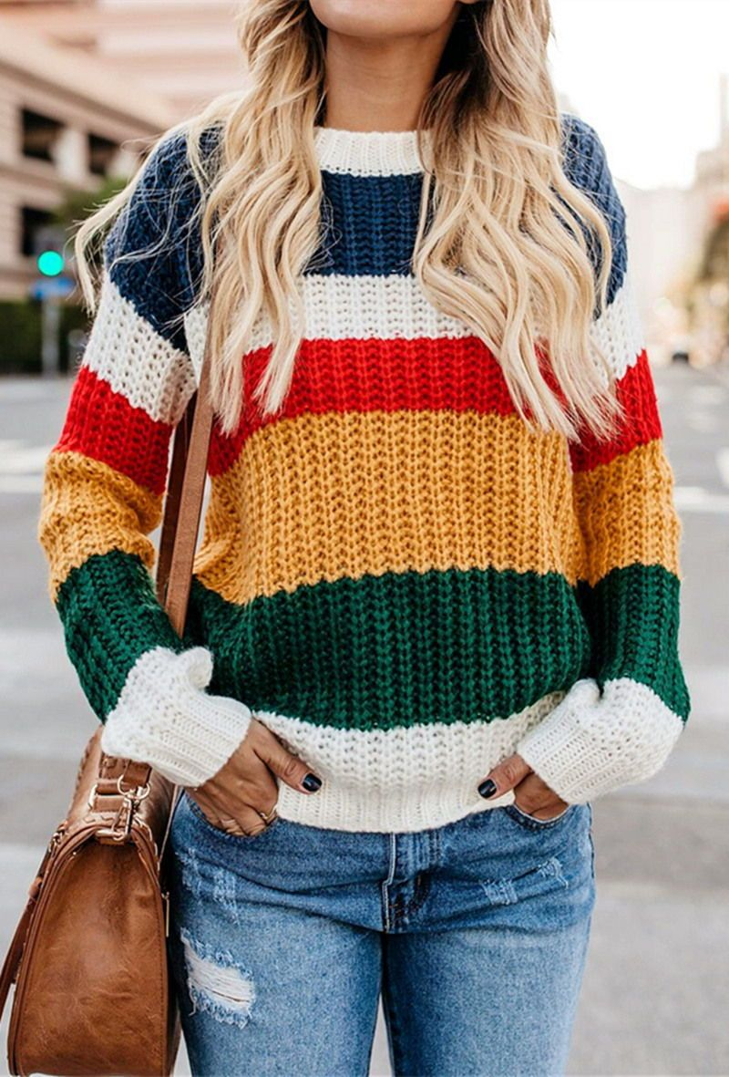 Chasing The Rainbow Striped Sweater