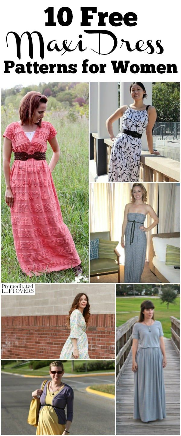 Check out these Free Maxi Dress Patterns for Women, including easy sewing patter…