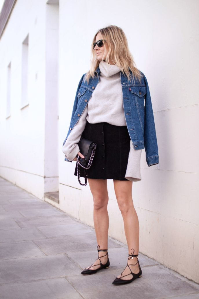 Chic Ways to Wear Lace-Up Flats