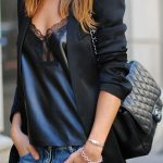Choose a black blazer and blue jeans to create a chic, glamorous look.  Shop thi...
