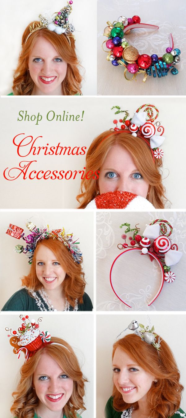 Christmas hair accessories for women, Christmas headbands for women, Ugly Sweate…