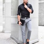 City Boy Look. Urban Style from head to toe with gadget and man bangles. | Men's...