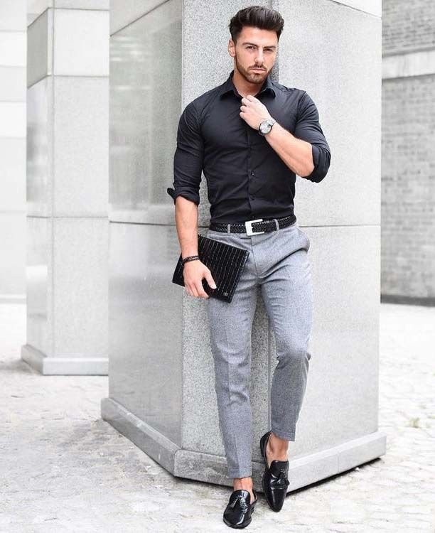 City Boy Look. Urban Style from head to toe with gadget and man bangles.   Men's…
