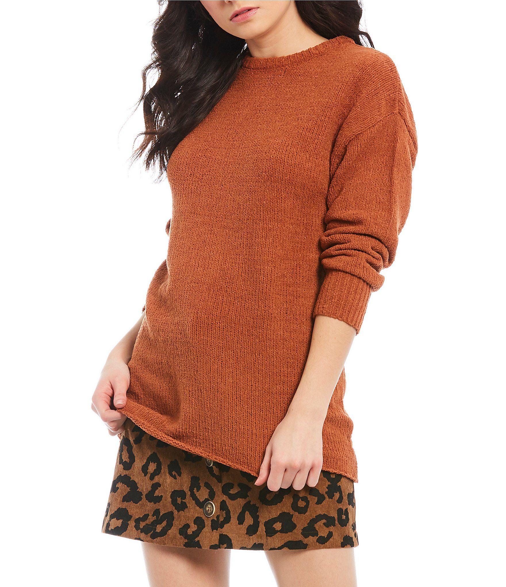 Coco  Jaimeson Chenille Tunic Sweater – Pumpkin Spice XL