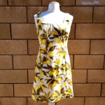 Company Ellen Tracy Lemon Fruit SpringSummer Dress Besides a missing belt and th...