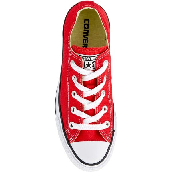 Converse Chuck Taylor All Star Canvas Ox Low-Top Trainers , Red (1 020 ZAR) ❤ …