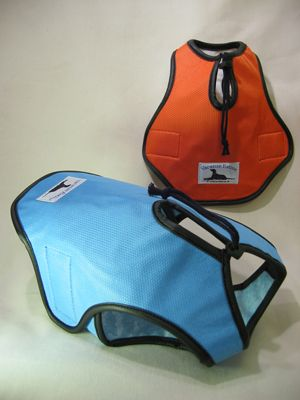 Cool vest helps keep your dog from overheating on hot days.  Great for travel an…