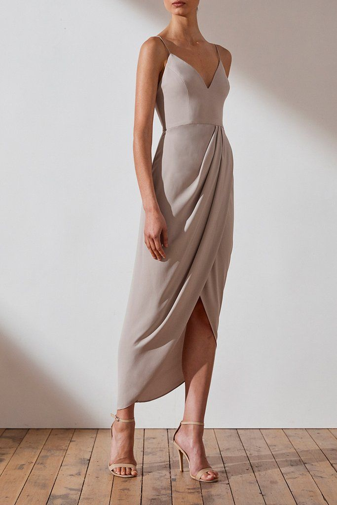 Core cocktail dress – oyster
