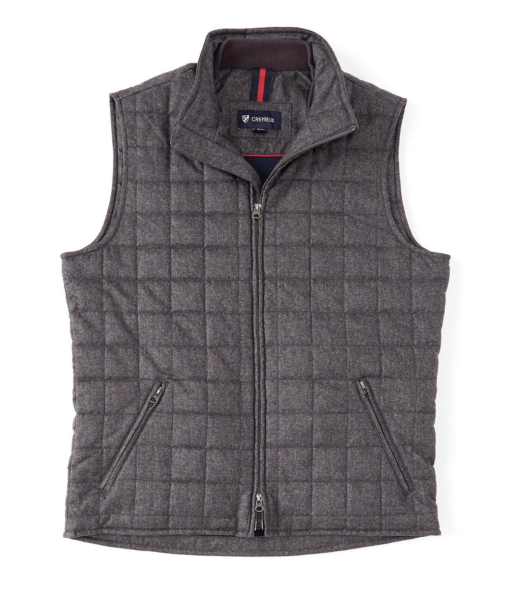 Cremieux Bryan Brushed Full-Zip Quilted Vest | Dillard's