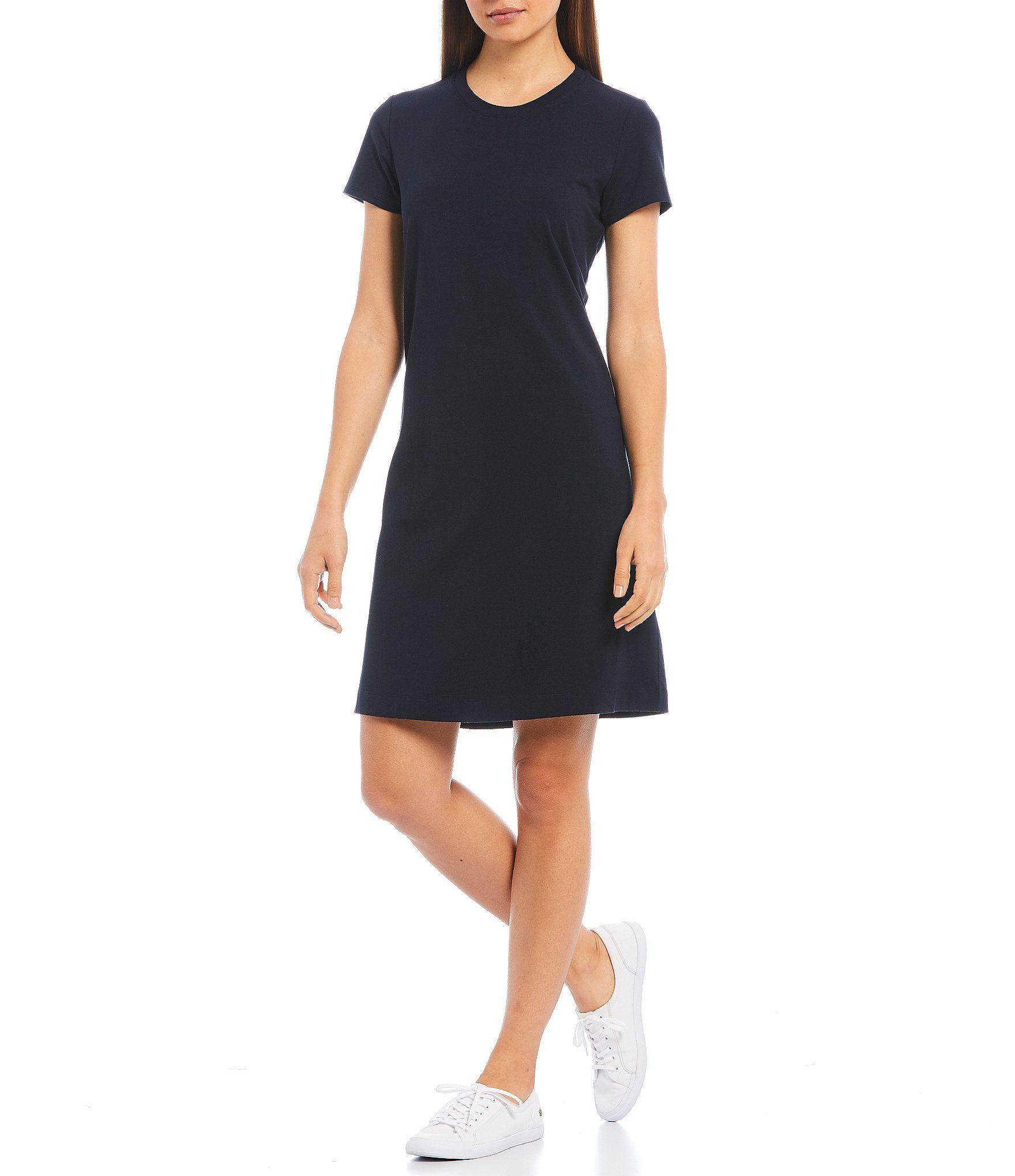 Cremieux Gabby Knit Short Sleeve Shift Dress – Caviar M