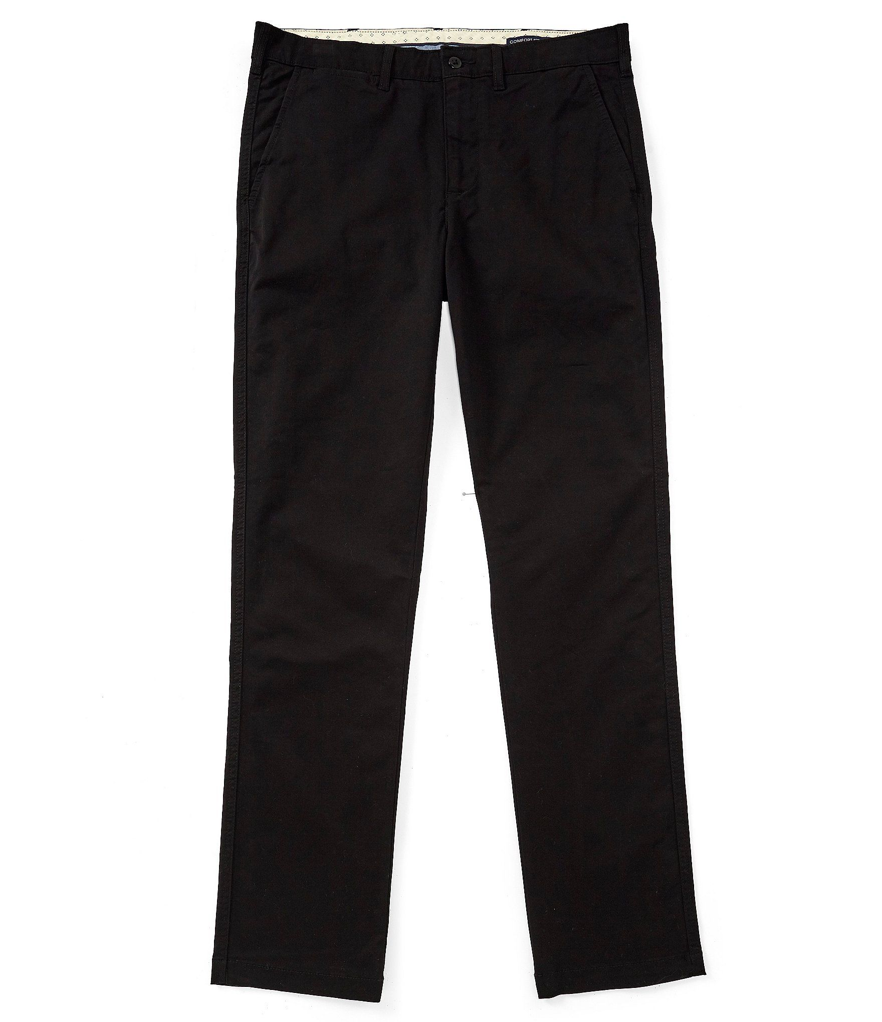 Cremieux Soho Slim-Fit Flat-Front Twill Comfort Stretch Casual Pants – Black 32 32