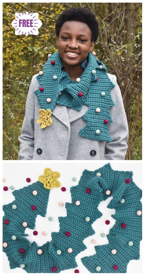Crochet Christmas Tree Scarf Free Crochet Patterns
