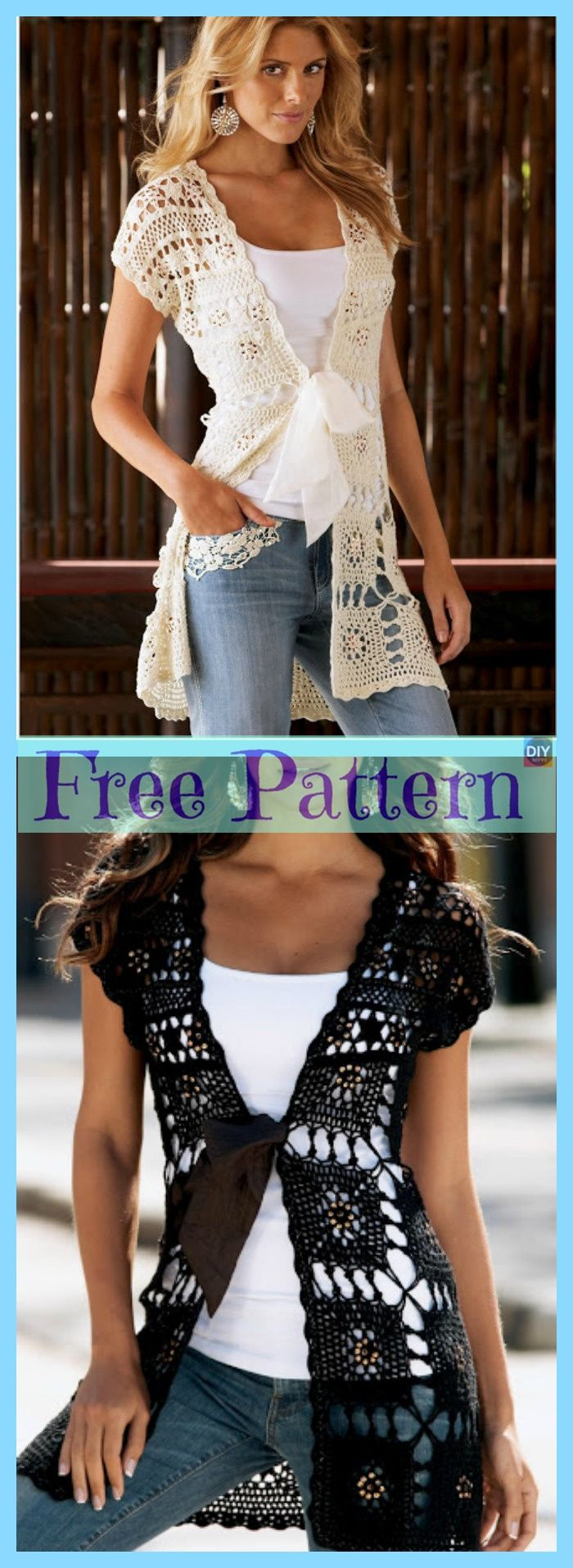 Crochet Lace Summer Tops – Free Patterns – DIY 4 EVER