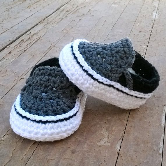 Crochet PATTERN. Baby sneakers. Instant Download