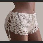 Crochet Shorts-Bikini Shorts-sexy white shorts-Crochet beach shorts-Crochet lace shorts