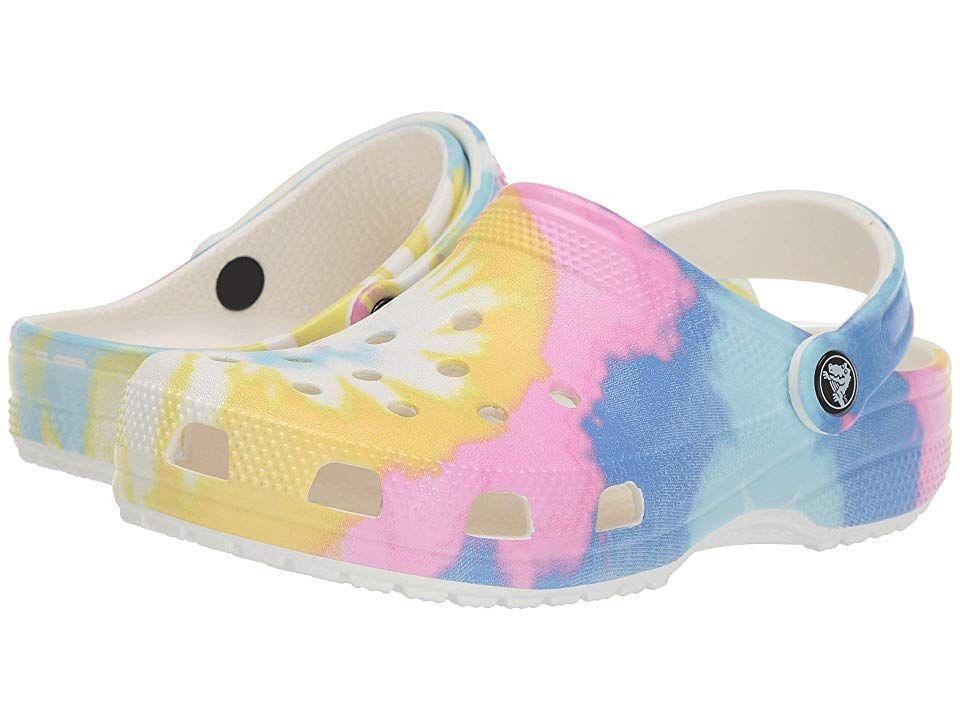 Crocs Classic Tie-Dye Graphic Clog Clog Shoes White/Multi