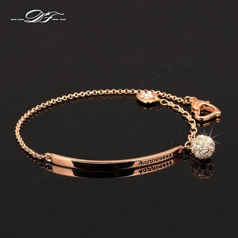 Cubic Zirconia Ball Charm Bracelet