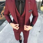 Custom Made Groom Wedding Tuxedos Groomsmen Burgundy Slim Suits Fit Best Man Suit Men'S Suits Bridegroom Groom Wear Jacket+Vest+Pants 14 Groomsmen Tux Men Dress Suits From Yymdress, $73.41| DHgate.Com