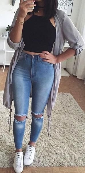 Cute Fall Preppy Back to School Outfits Ideas for Teens for College 2018 Casual