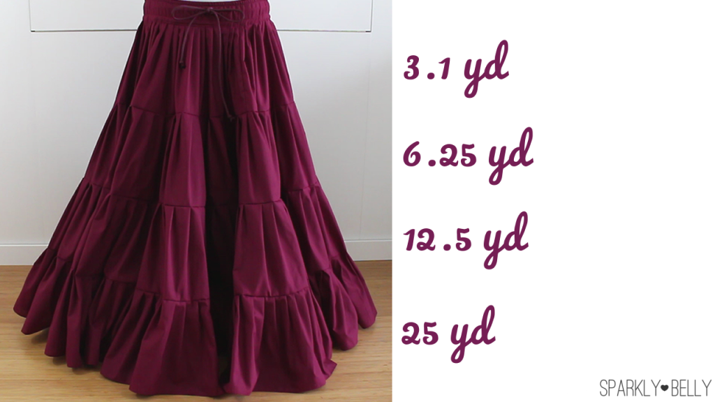 DIY 25 Yard Skirt – Easiest & Cheapest! Gypsy/ATS/Belly Dancing Tiered Skirt