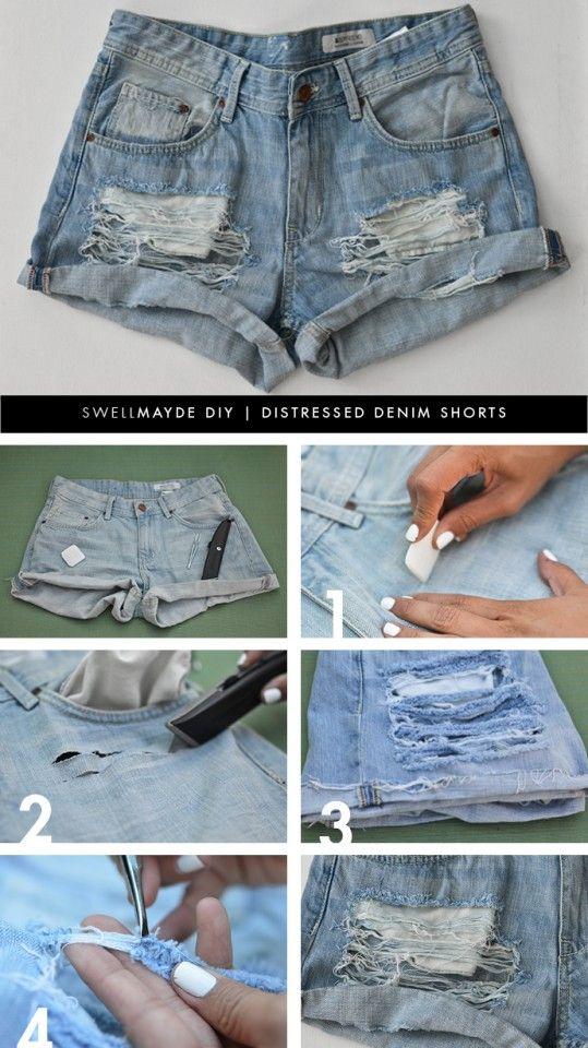 DIY Fashion: How to Refashion Old Shorts