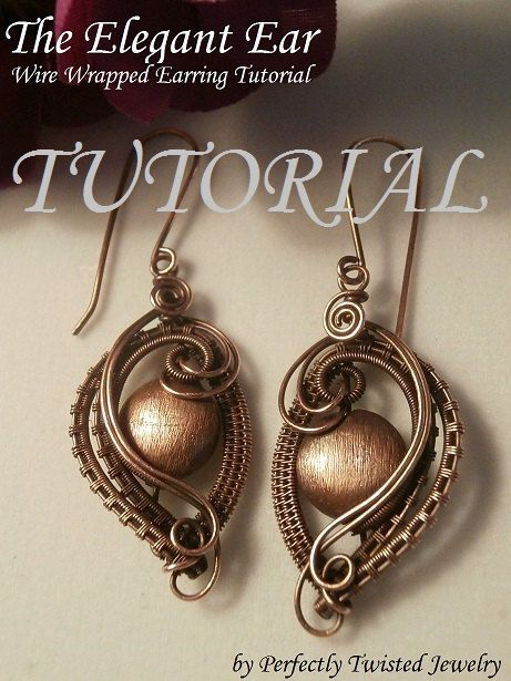 DIY Wire Wrap TUTORIAL Wire Wrapped Earrings The Elegant Ear Wire Jewelry Pattern Making Wire Jewelry Perfectly Twisted Jewelry Wire Weave