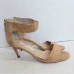 DVF cork kitten heel sandals Diane Von Furstenberg cork kitten heels in good pre...