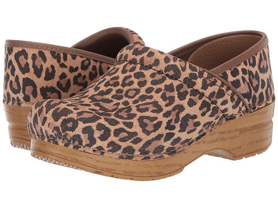 Dansko Professional Women's Clog Shoes Leopard Suede