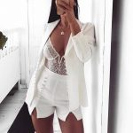 Deep V Lace Women's Bodysuit