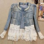 Denim Jacket Casaco Crystal Slim Short PU27