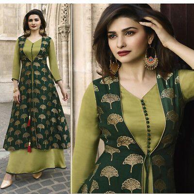 Designer Indian women Stone embroidery party wear Maxi Dress long tunic Kurti | …
