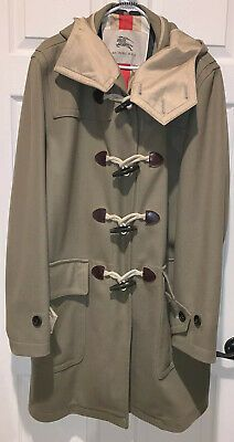 Details about Authentic Burberry Mens Duffle Coat XL Natural Toggles
