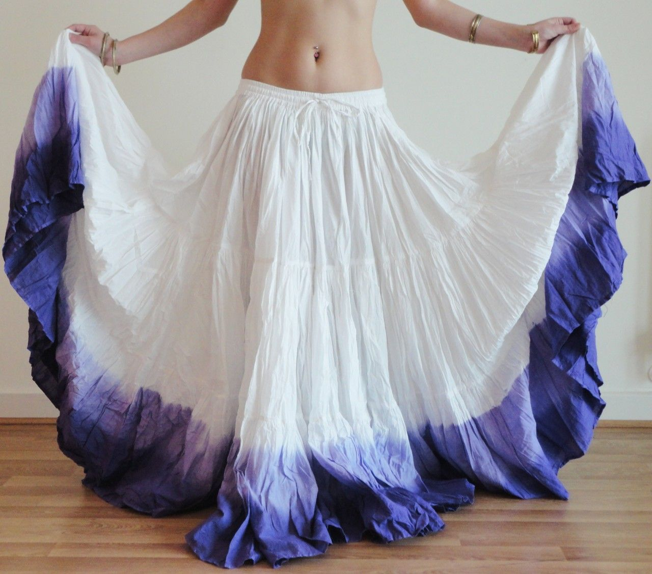 Details about LONG 25 Yard 4 Tier Skirt Belly Dance Gypsy Skirt 40″ Height