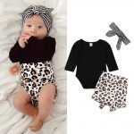 Details about US Toddler Kids Baby Girl Infant Clothes Romper Tops Leopard Print Pants Outfits