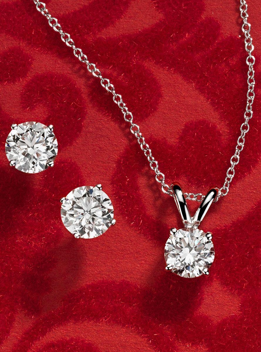 Diamond Solitaire Pendant in 14k White Gold (1 ct. tw.)