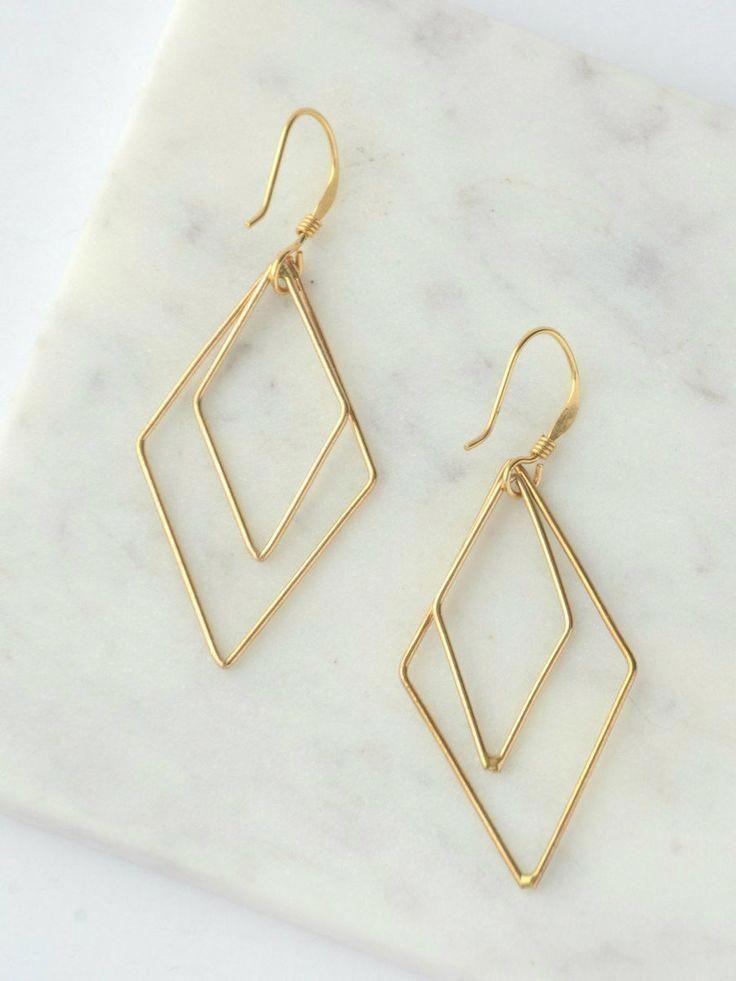 Diamond Stud Earrings – Tiny Bezel Setting Diamond Stud Earrings in 14k Gold – Genuine Diamond Stud Earrings – Perfect Graduation Gift