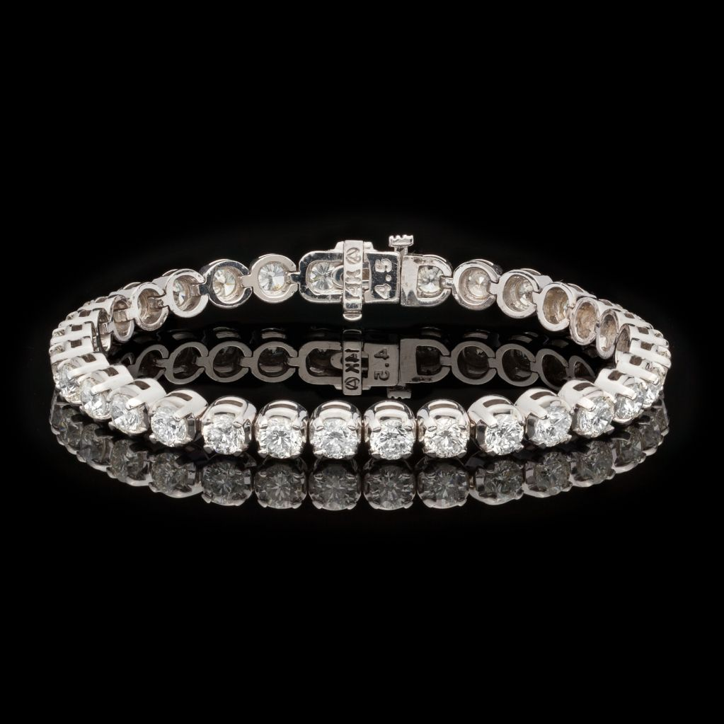 Diamond Tennis Bracelet | From a unique collection of vintage tennis bracelets a…