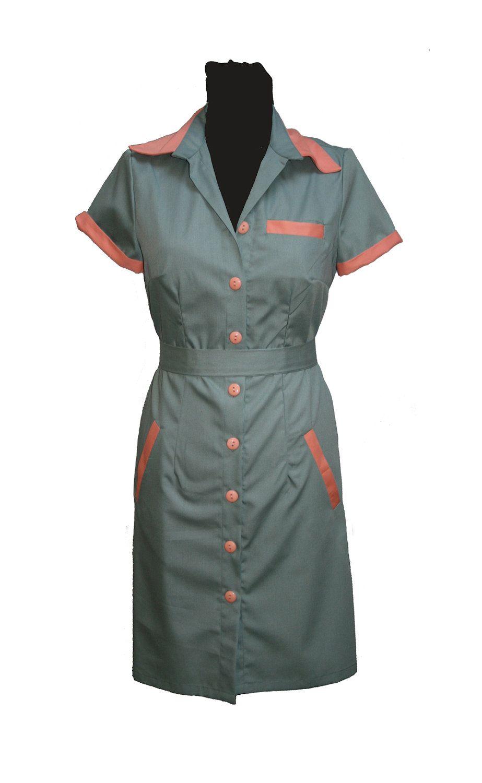 Diner dress, retro dress, uniform dress, waitress dress, twin peaks.
