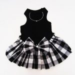 Dog Dresses: Black and White Polka Dot Fantasy Dress for Dog Clothes