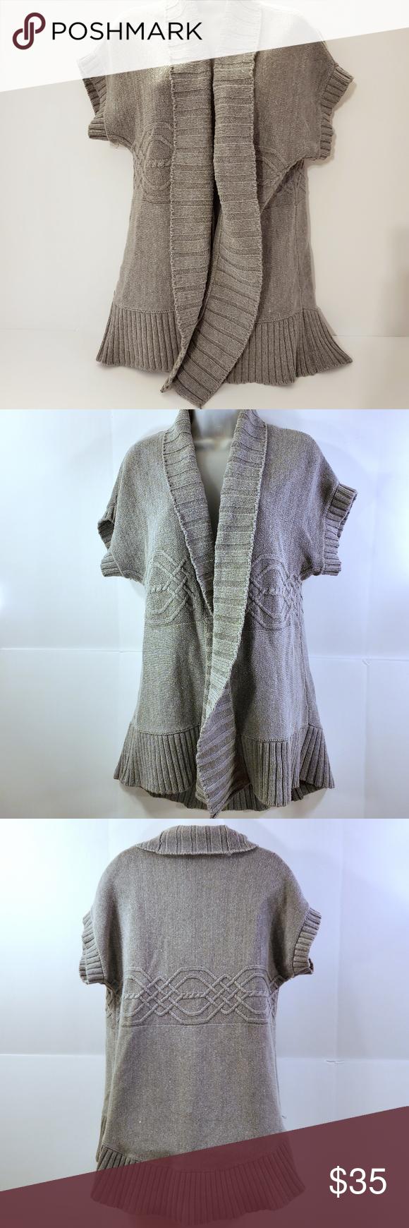 Donna Karen DKNY Open Cardigan Tunic Sweater Donna Karen DKNY Open Cardigan Tuni…