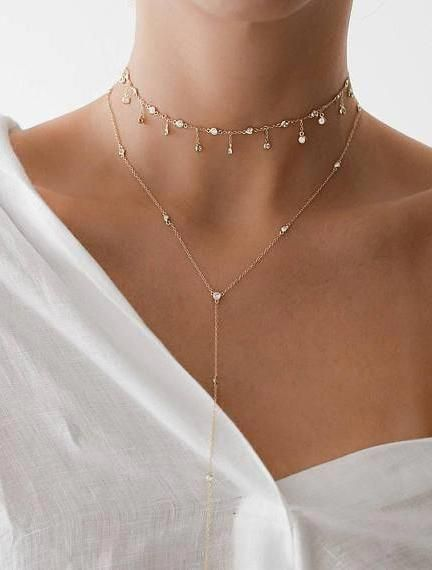Double Horn Necklace/ 14k Solid Gold Double Horn Necklace w/ Diamonds/ Moon Necklace/ Double Horn Choker/ 14k Gold Necklace Graduation Gift