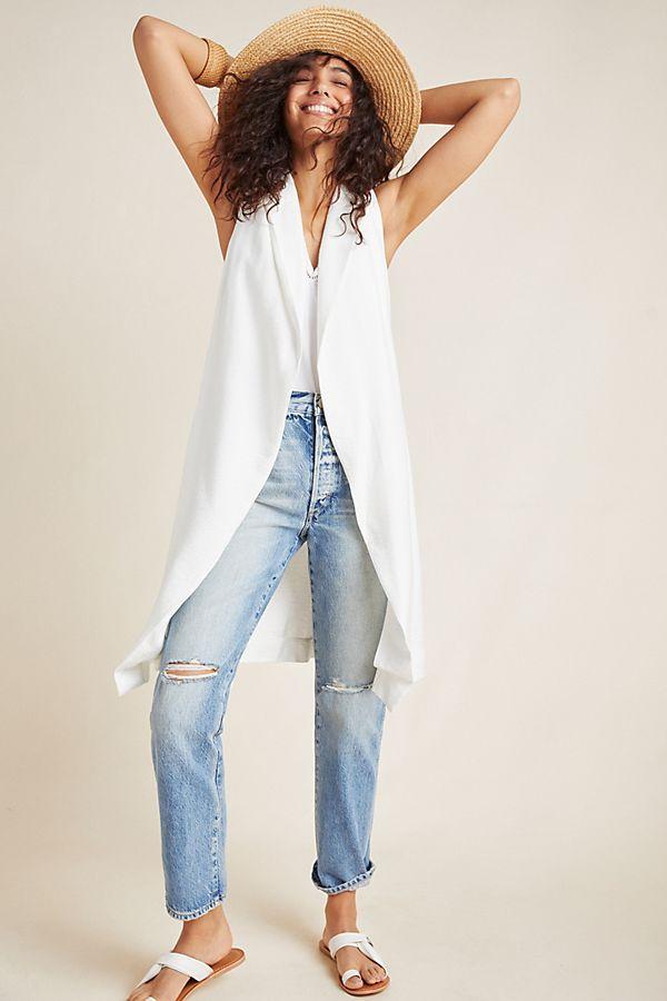 Draped Longline Vest