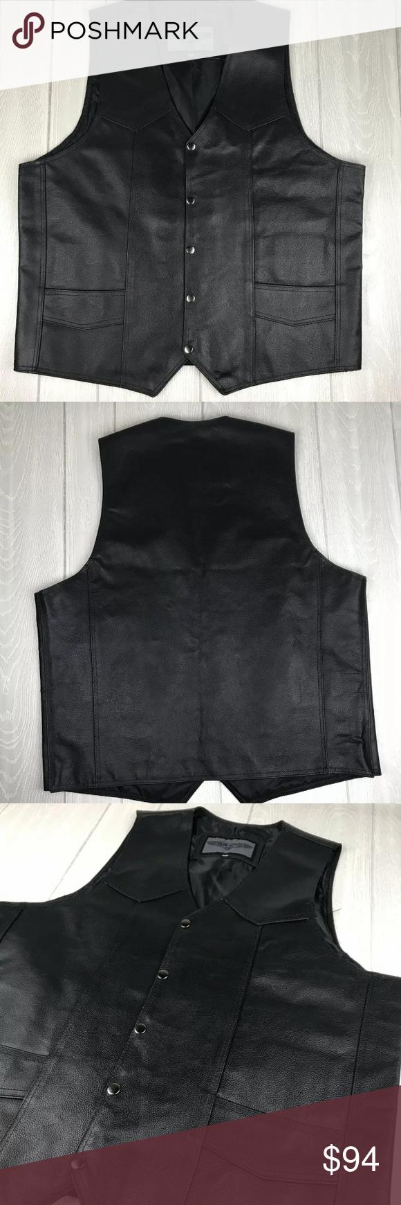 Dream Apparel leather concealed carry vest Dream Apparel Men's Motorcycle Leathe…