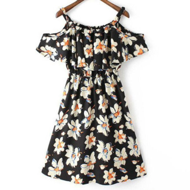 Dress: flowers, cute, girly, daisy, summer dress, trendy, fashion, cool, floral,…