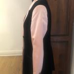 ESCADA pink satin w/ black velvet blazer This Blazer is stunning stunning stunni...