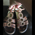 Earth Sandals Roman gladiator sandals - they have some scuffs as seen on toe bed...